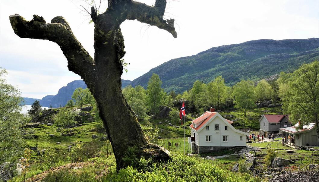 NYÅPNA: Bakken Gård er eit fint utgangspunkt for turar.