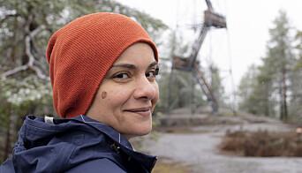 Hanan drar ofte til branntårnet på Kjerringhøgda i Østmarka, for å klatre til topps og nyte utsikten.